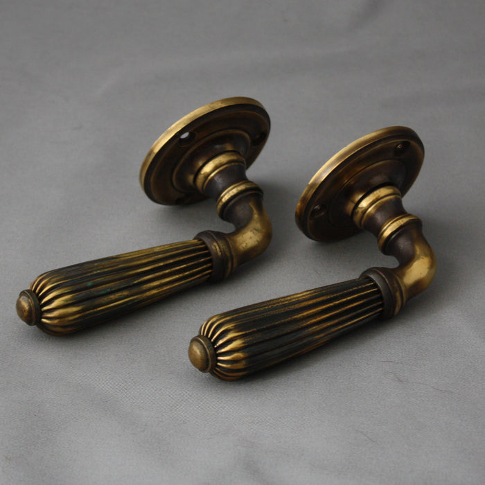 Regency Brass Lever Door Handles