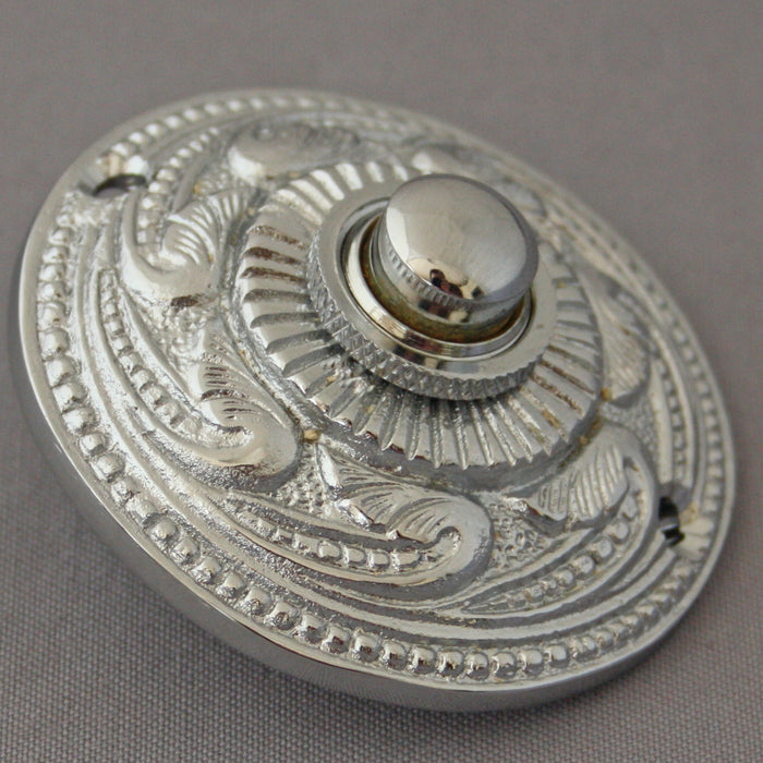 Chrome Decorative Victorian Bell Push