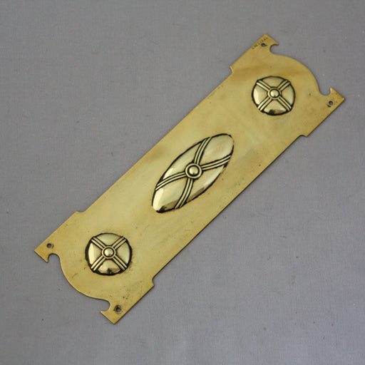 Small Edwardian Brass Finger Plates