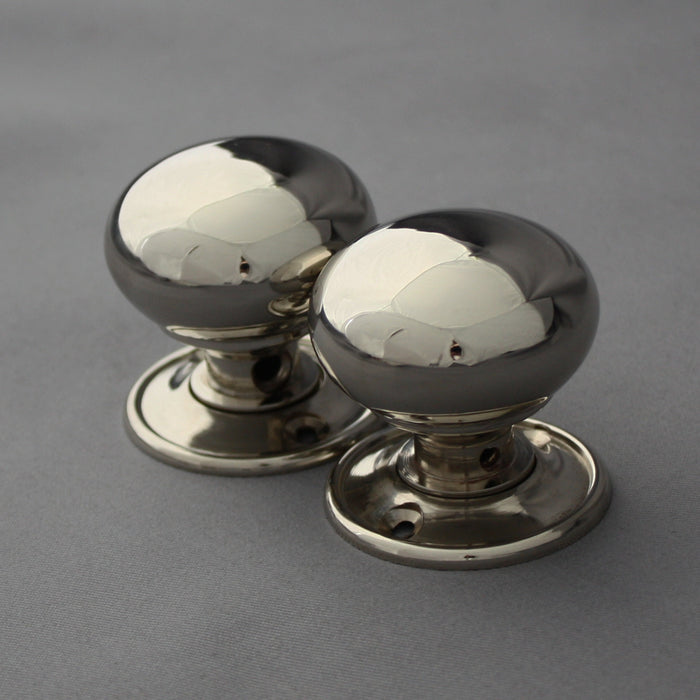 Period Small Nickel Cottage Door Handles