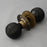 Solid Ebony Beehive Door Knobs