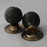 Beehive Solid Ebony door Knobs