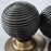 Period Beehive Solid Ebony door Knobs