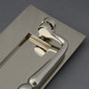 Nickel Traditional Victorian Front Door Letterbox, Clapper & Tidy