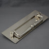 Traditional Nickel Letterbox, Clapper & Tidy