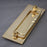 Brass Traditional Victorian Letterbox with Clapper & Tidy Draught Excluder