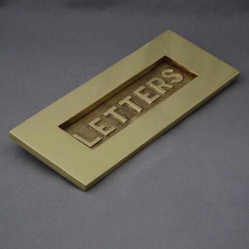 Victorian Brass 'Letters' Letterbox