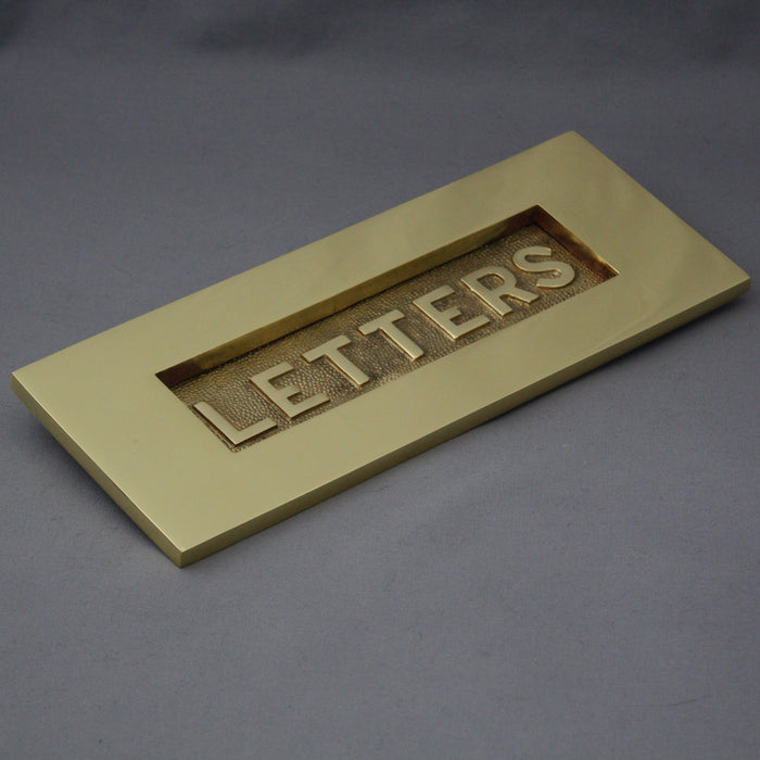 Brass Victorian 'Letters' Letterbox