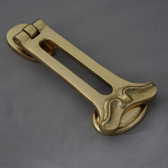 Art Nouveau brass knocker