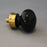 Bohemian Black Glass Cabinet Knob