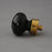 Black Glass Cabinet Knob