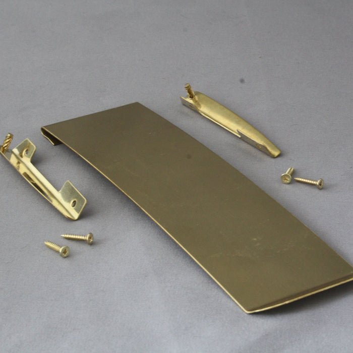 Vertical Brass Letterbox Flap or Tidy