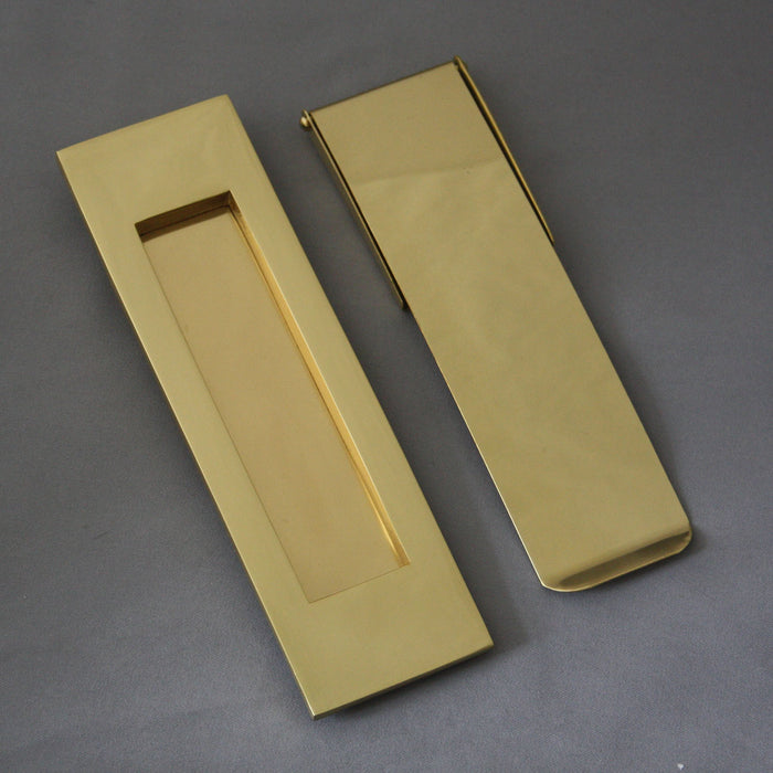Vertical Brass Letterbox and Tidy