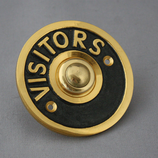 Brass Visitors Electric Bell Push