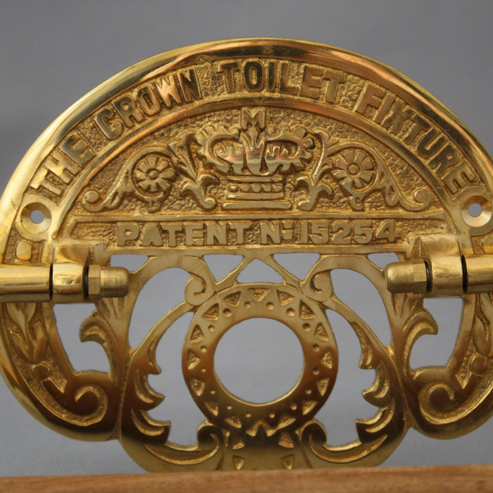 Antique Inspired Brass Toilet Roll Holder