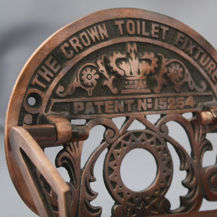 Antique Copper Toilet Roll Holder