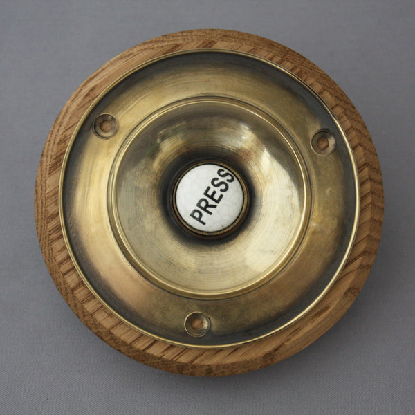 Large Victorian Brass Electric Bell Push & Period Victorian Door Bell | Architectural Decor