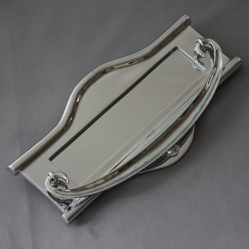Large Art Nouveau Chrome Letterbox