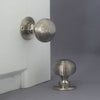 Nickel Beehive Door Handles