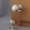 Nickel period beehive door knobs