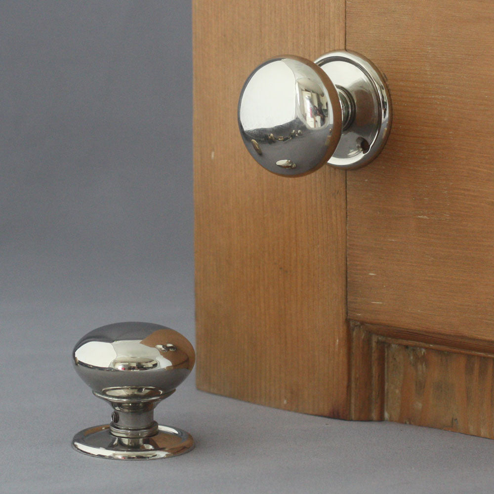 Nickel Cottage Door Knobs