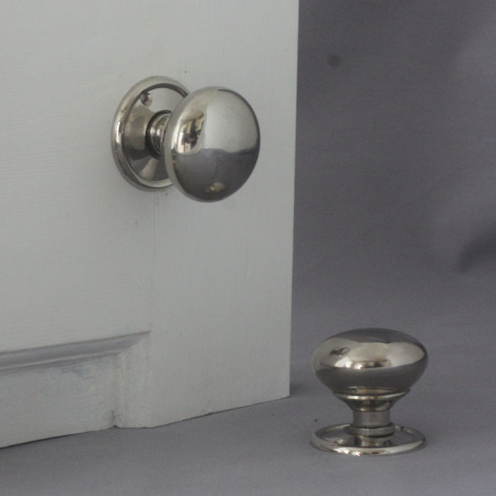 Nickel Cottage Door Handles