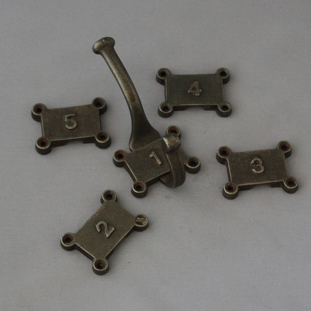 Factory Numbered Iron Hooks