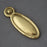 Victorian Brass Raised Oval Escutcheon