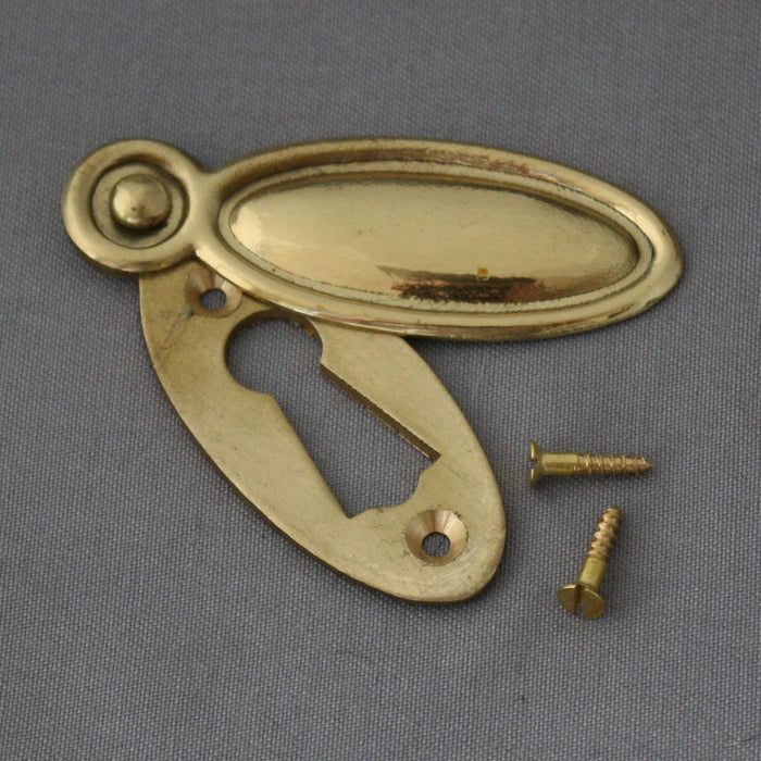Victorian Raised Brass Escutcheon