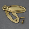 Victorian Raised Oval Brass Escutcheon