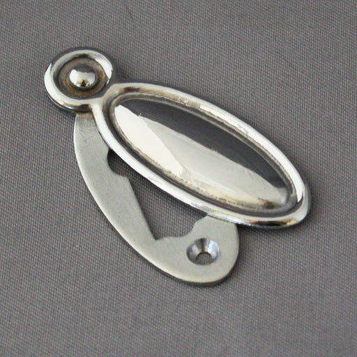 Raised chrome Oval Escutcheon