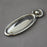 Victorian Raised chrome Oval Escutcheon