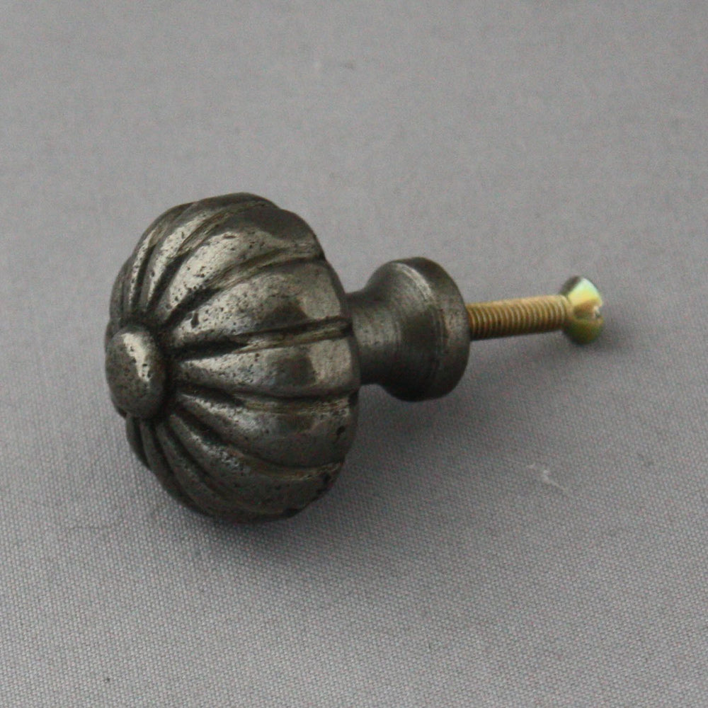 Antique Black Segmented Cabinet Knob