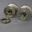 Segmented Edwardian Period Nickel Door Knobs