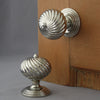Segmented Nickel Door Handles