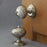 Edwardian Segmented Nickel Door Knobs