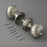 Segmented Edwardian Period Nickel Door Handles