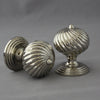 Segmented Edwardian Nickel Door Knobs