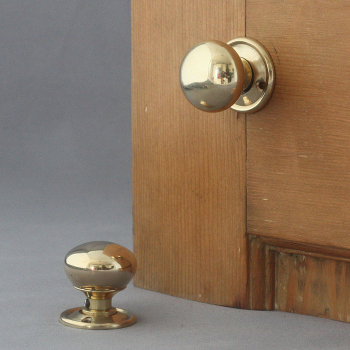 Small Brass Cottage Door Knobs