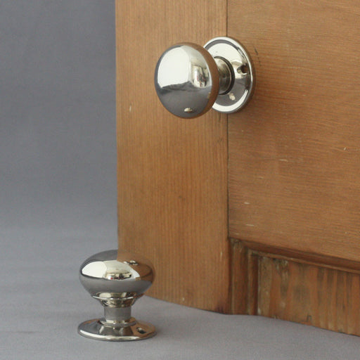 Small Nickel Cottage Door Handles