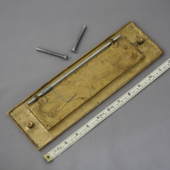 Period Brass 12 inch Letterbox