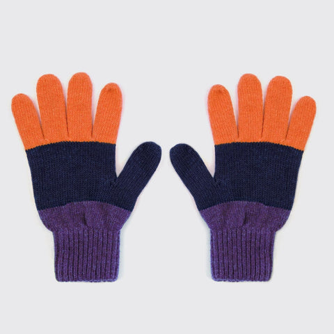 Navy Colourblock Gloves