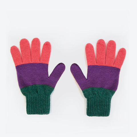Green Colourblock Gloves