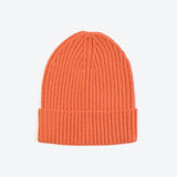 Orange Wool-Ribbed Beanie