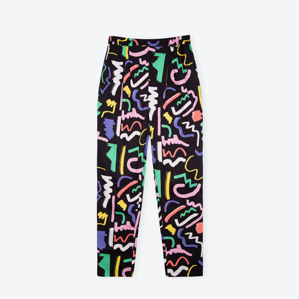 Pre-Order Black Scribble Holiday Trousers