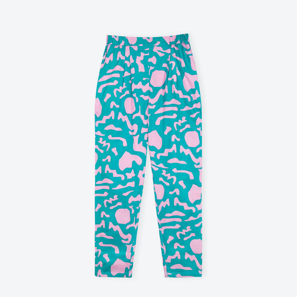 Teal Turtle Holiday Trousers