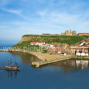 Whitby Replica Endeavour Blank Square Greetings Card