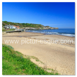 Beach leading to Sandsend, Nr Whitby, North Yorkshire