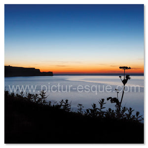Sandsend at Twilight greetings card