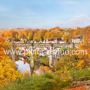 Knaresborough Viaduct at Autumn Blank Card